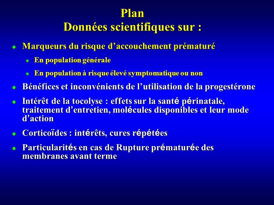 Plan Données scientifiques sur :