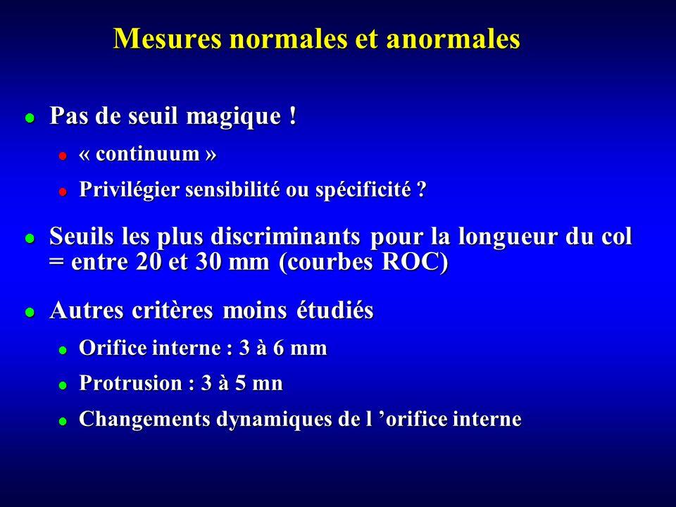 Mesures normales et anormales