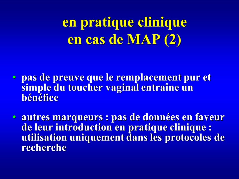 en pratique clinique en cas de MAP (2)