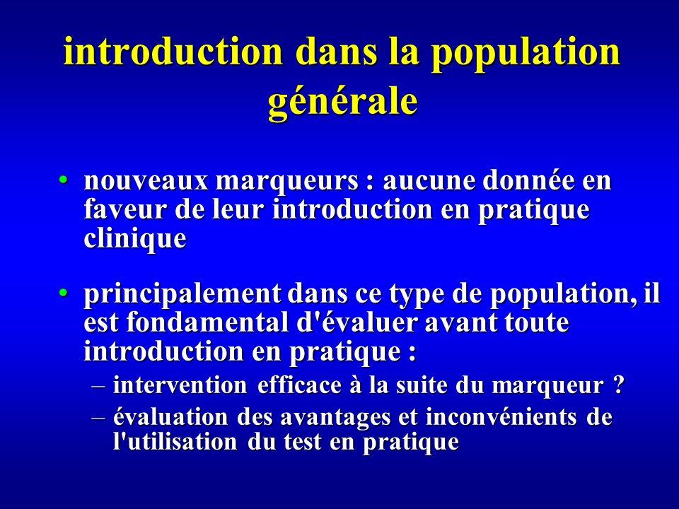 introduction dans la population générale