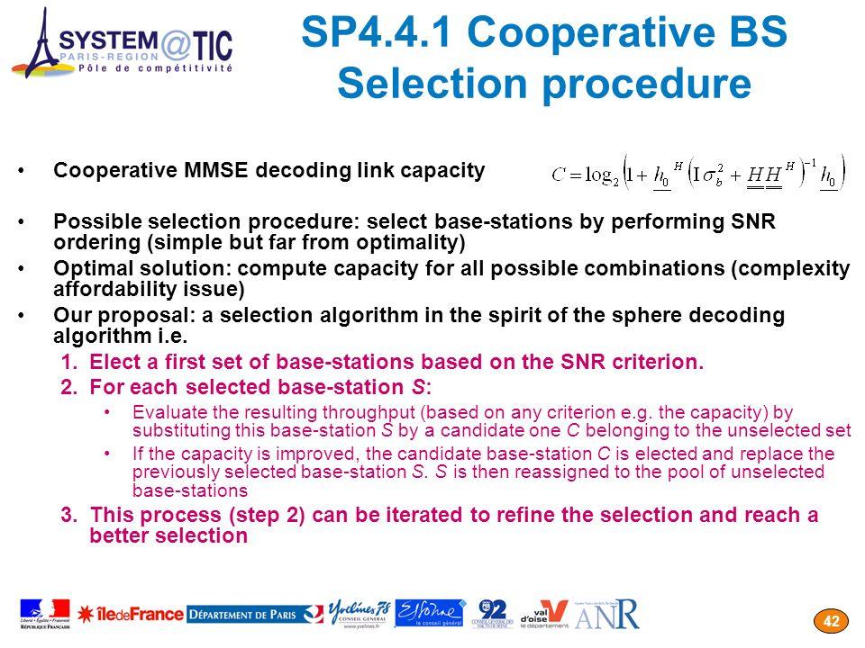 SP4.4.1 Cooperative BS Selection procedure