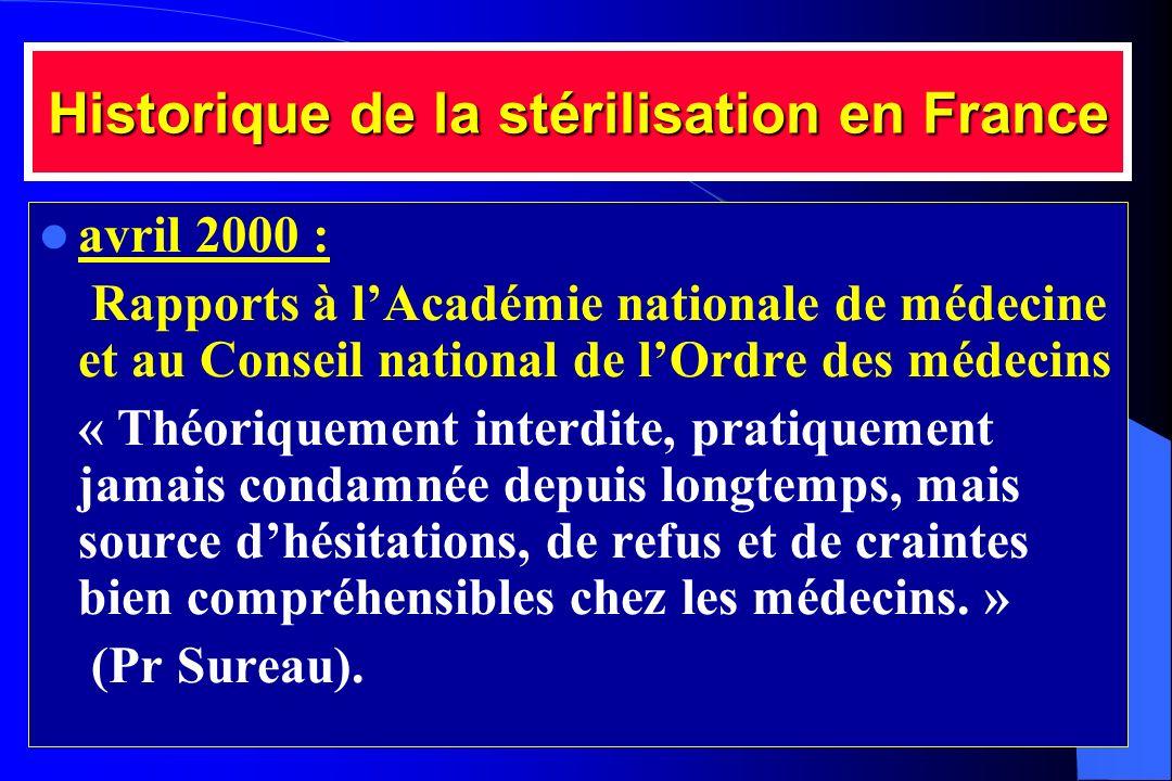 Historique de la stérilisation en France
