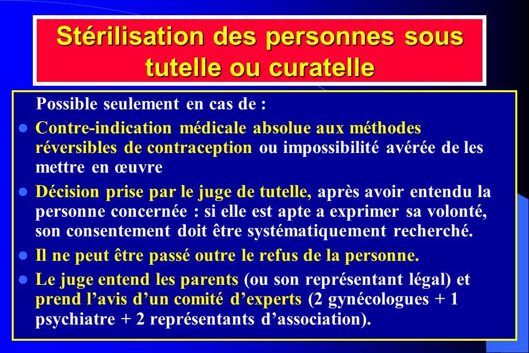 Stérilisation des personnes sous tutelle ou curatelle