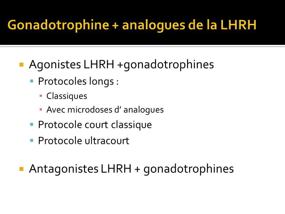 Gonadotrophine + analogues de la LHRH