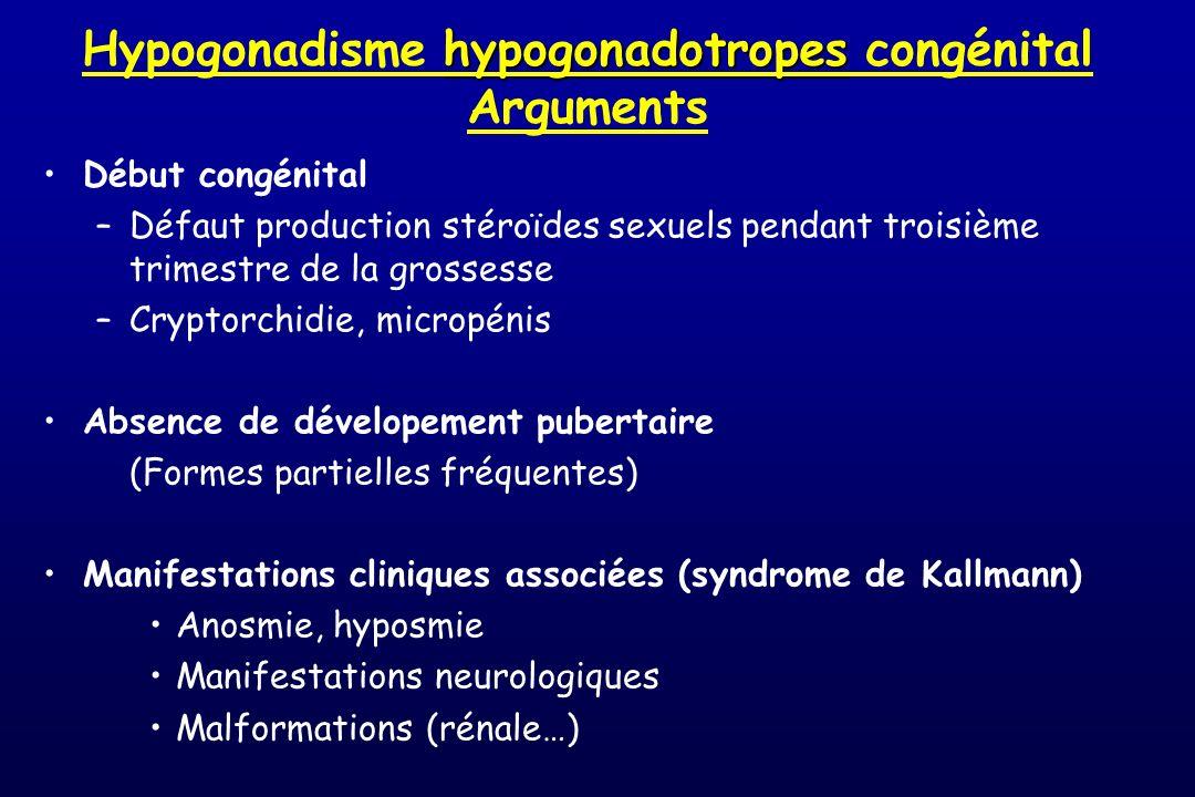 Hypogonadisme hypogonadotropes congénital Arguments
