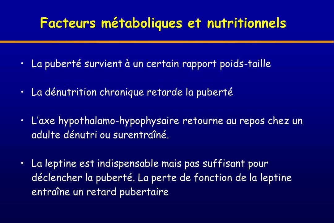 Facteurs métaboliques et nutritionnels