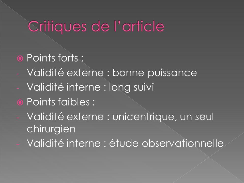 Critiques de l'article