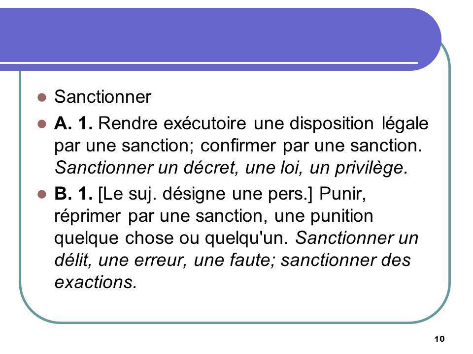 Sanctionner