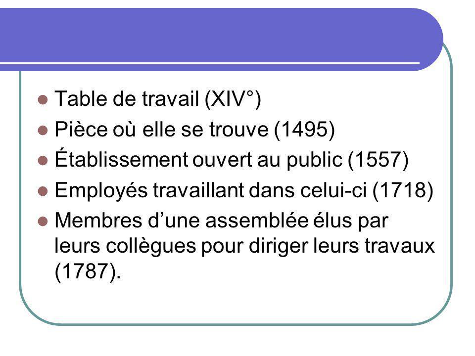 Table de travail (XIV°)