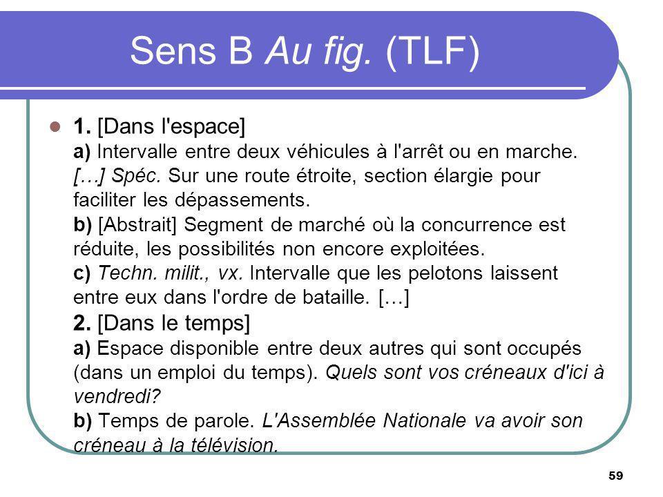 Sens B Au fig. (TLF)