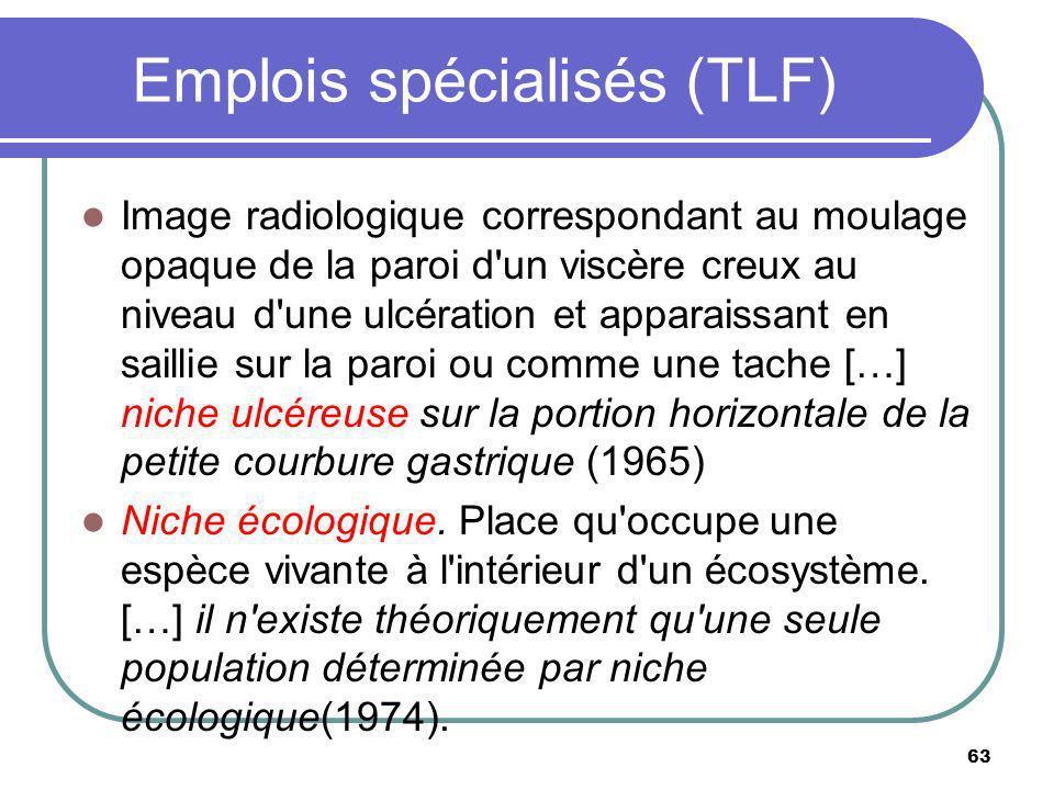 Emplois spécialisés (TLF)