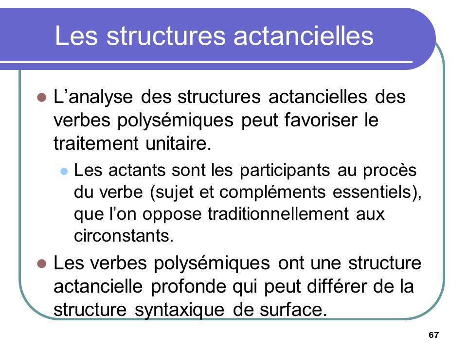 Les structures actancielles