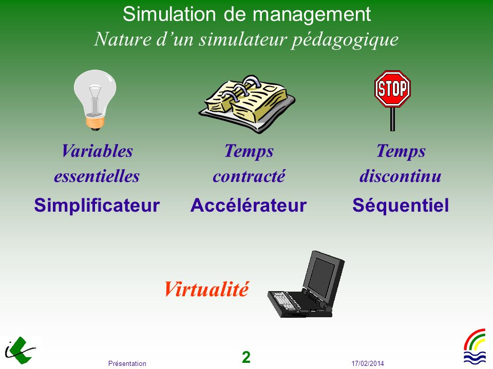 Simulation de management Nature d'un simulateur pédagogique
