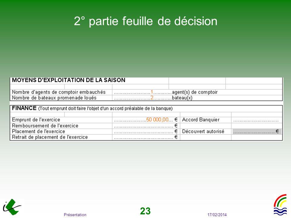 2° partie feuille de décision