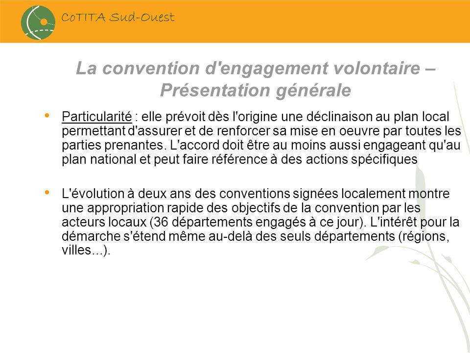 La convention d engagement volontaire – Présentation générale
