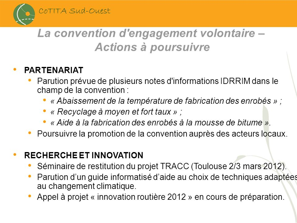 La convention d engagement volontaire –