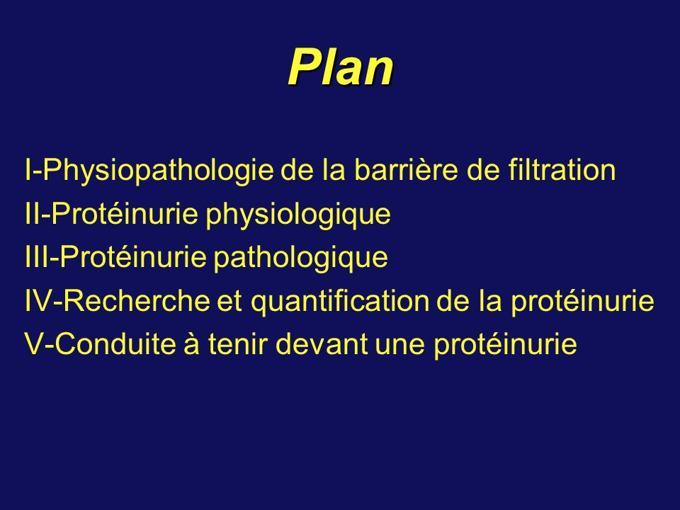 Plan I-Physiopathologie de la barrière de filtration