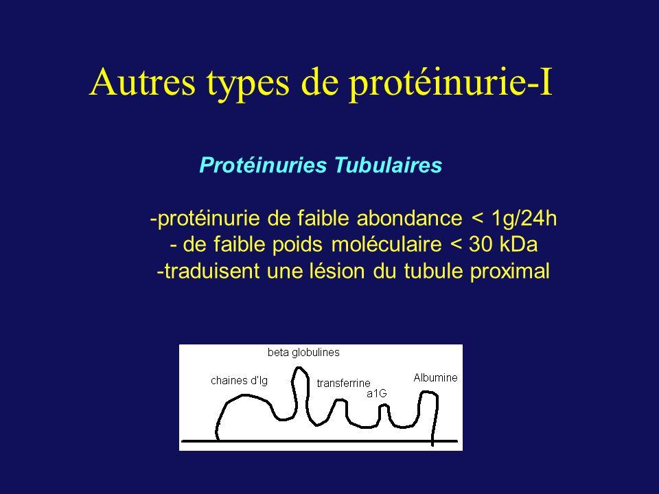 Autres types de protéinurie-I
