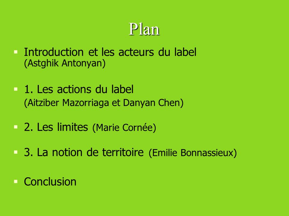 Plan Introduction et les acteurs du label (Astghik Antonyan)