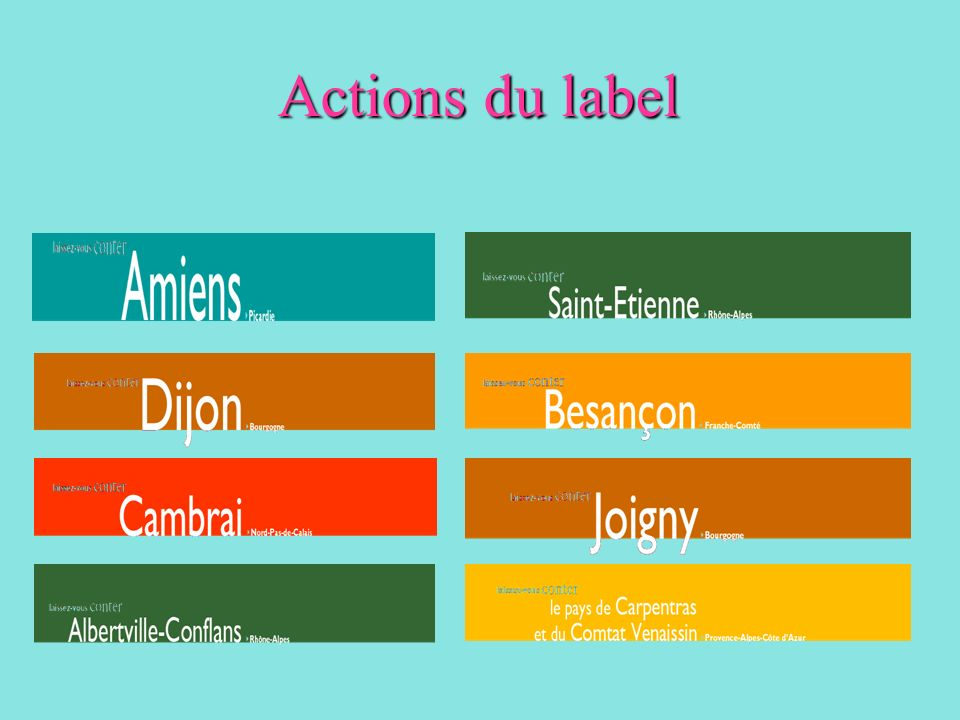 Actions du label