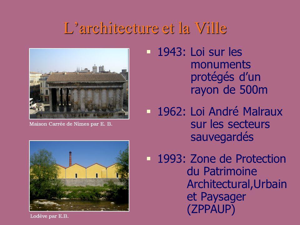 L'architecture et la Ville