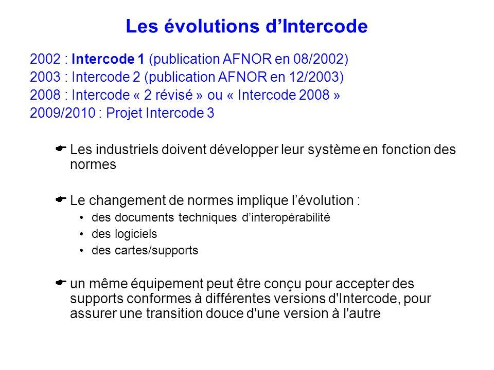 Les évolutions d'Intercode