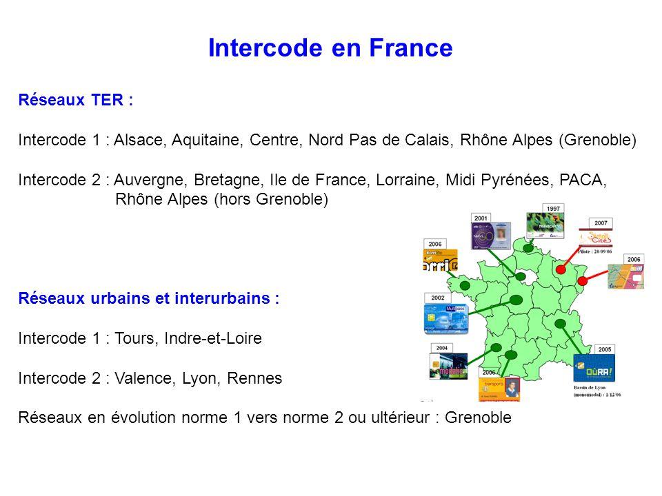Intercode en France Réseaux TER :