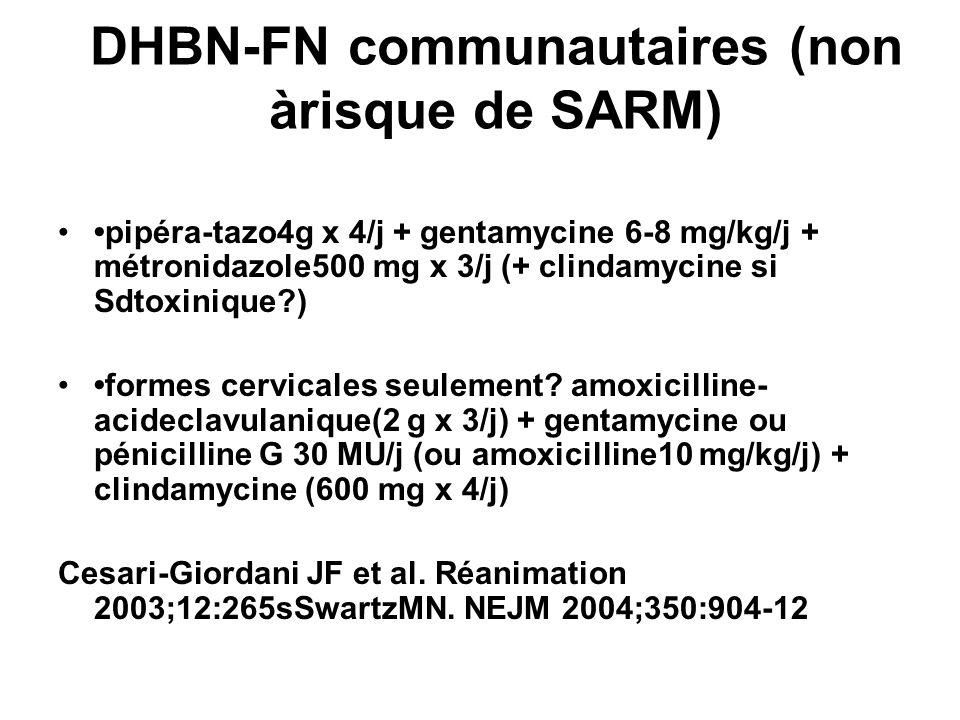 DHBN-FN communautaires (non àrisque de SARM)