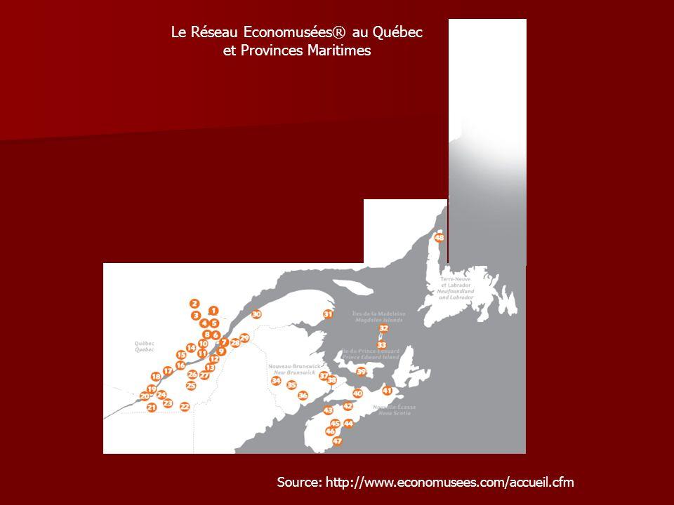 Le Réseau Economusées® au Québec et Provinces Maritimes