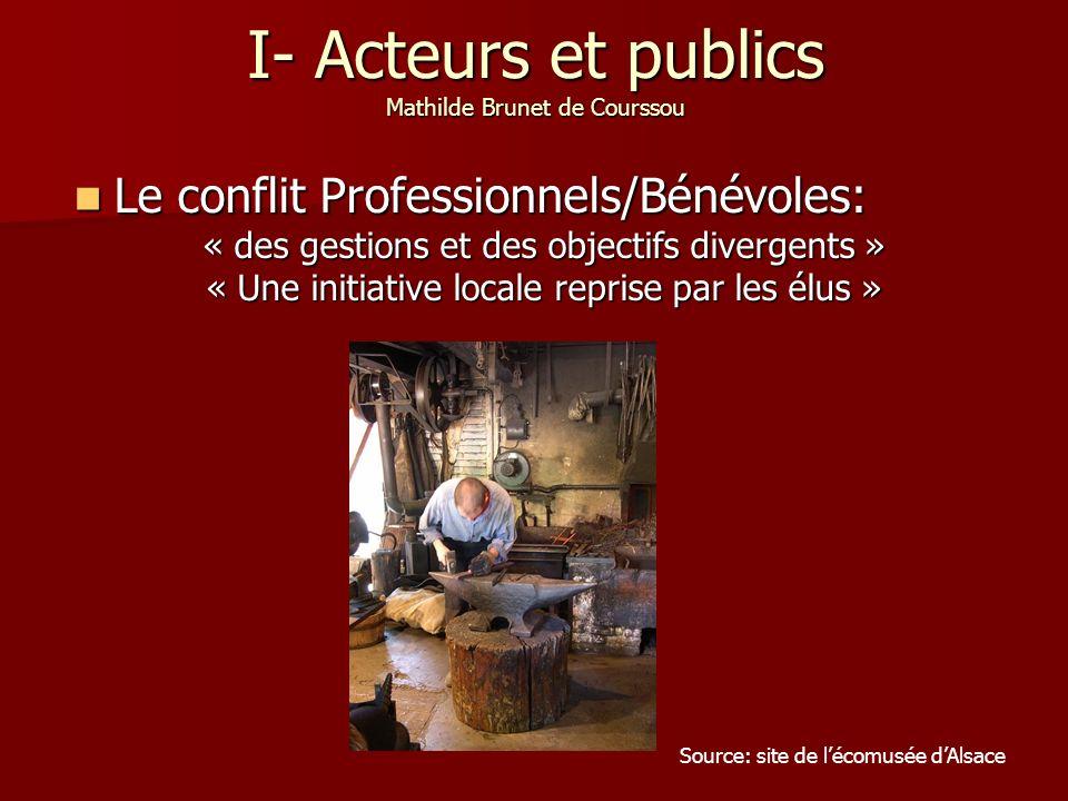I- Acteurs et publics Mathilde Brunet de Courssou