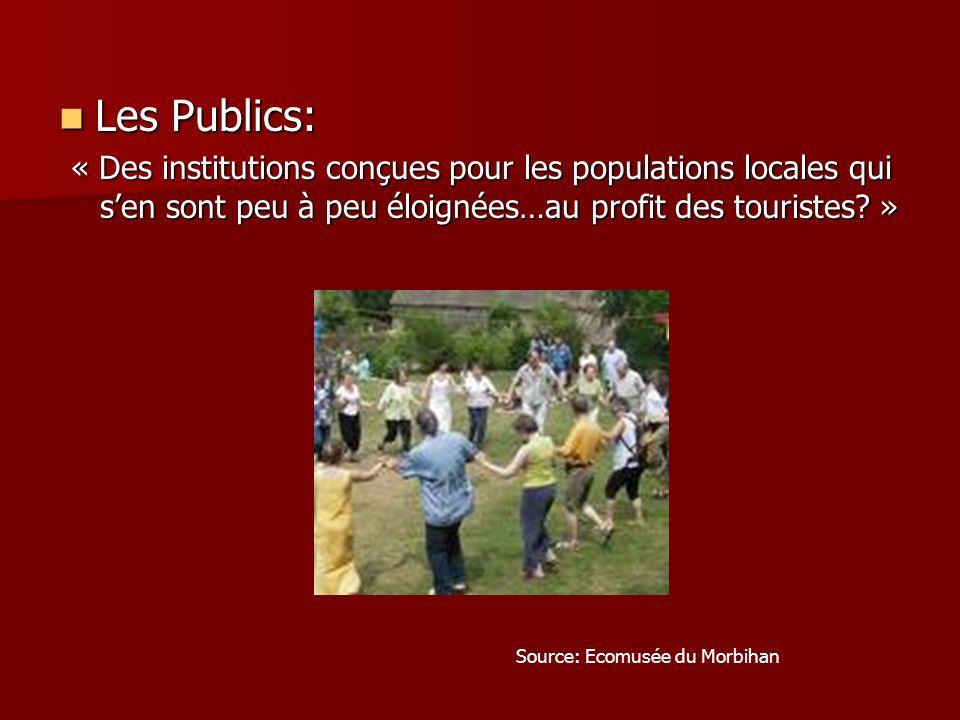 Les Publics: « Des institutions conçues pour les populations locales qui s'en sont peu à peu éloignées…au profit des touristes »