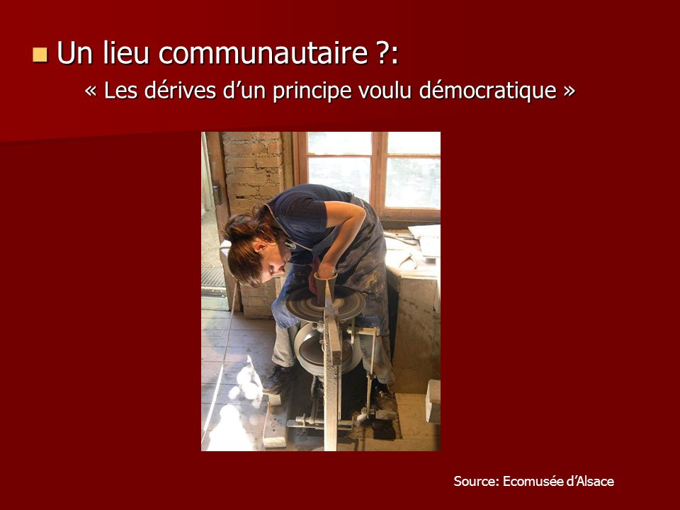 « Les dérives d'un principe voulu démocratique »