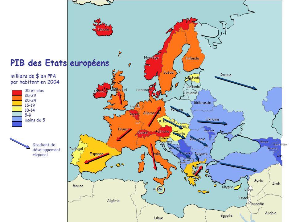 PIB des Etats européens