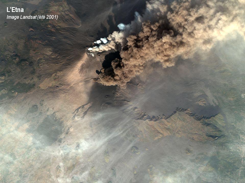 L'Etna Image Landsat (été 2001)