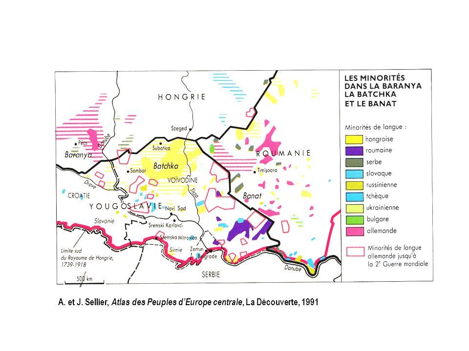 A. et J. Sellier, Atlas des Peuples d'Europe centrale, La Découverte, 1991