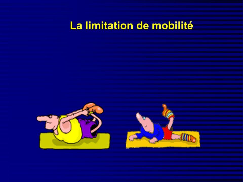 La limitation de mobilité
