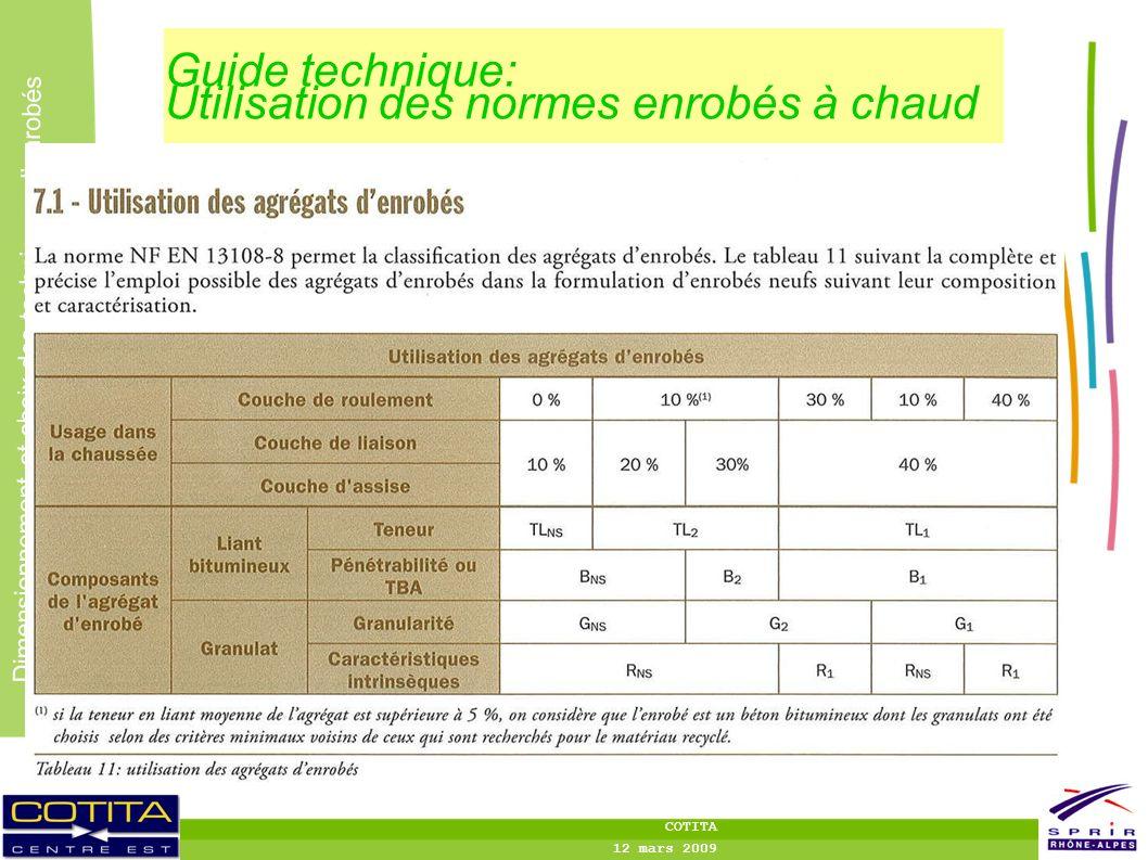 Guide technique: Utilisation des normes enrobés à chaud