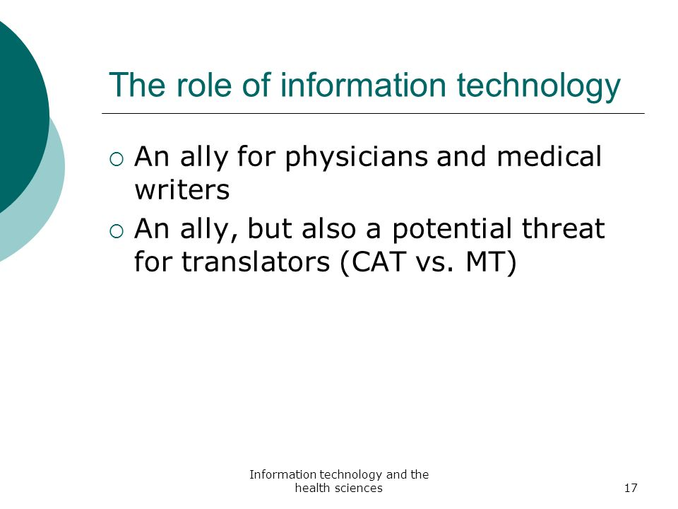 the role of informationtechnology on the