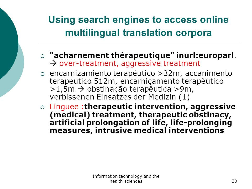 Using search engines to access online multilingual translation corpora