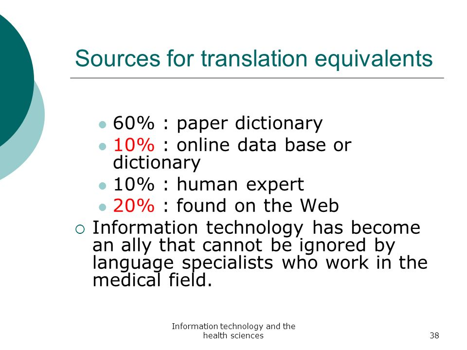 Sources for translation equivalents