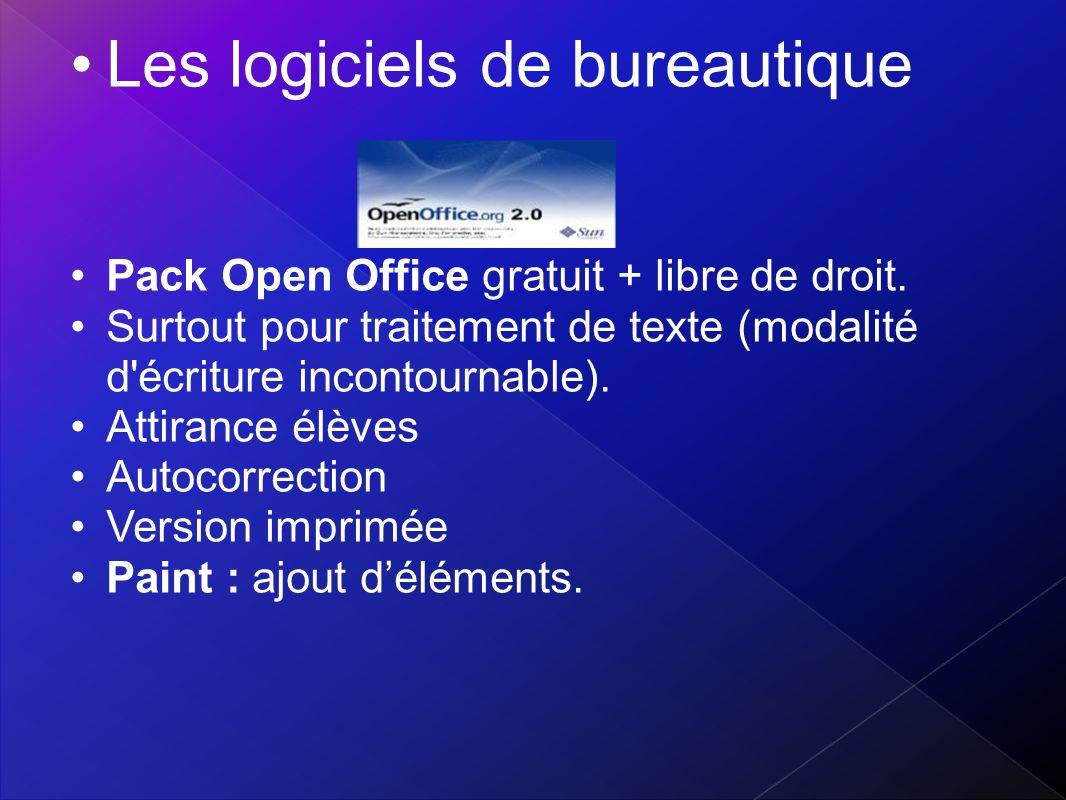Les logiciels de bureautique
