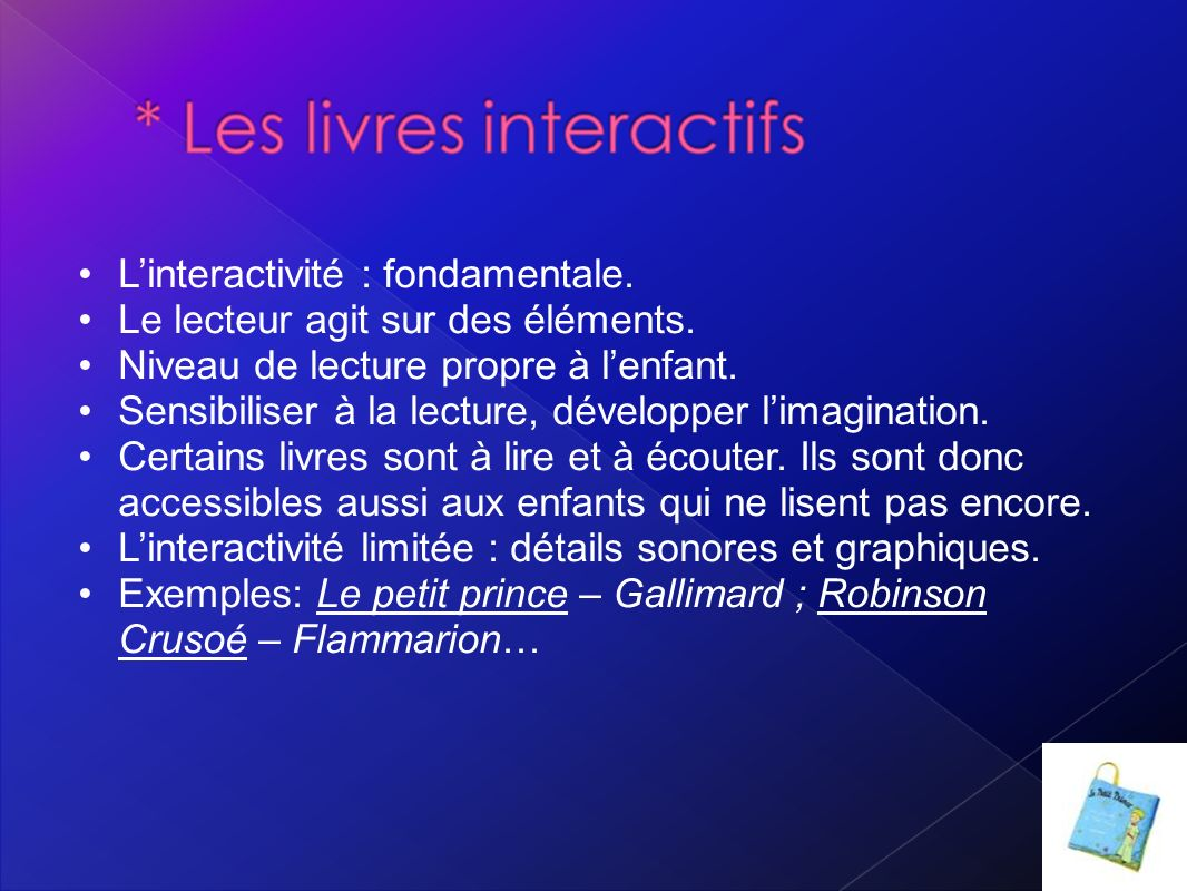 L'interactivité : fondamentale.