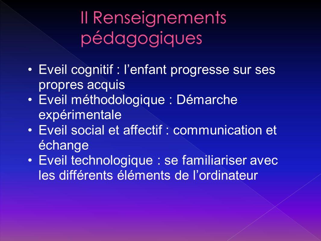 Eveil cognitif : l'enfant progresse sur ses propres acquis