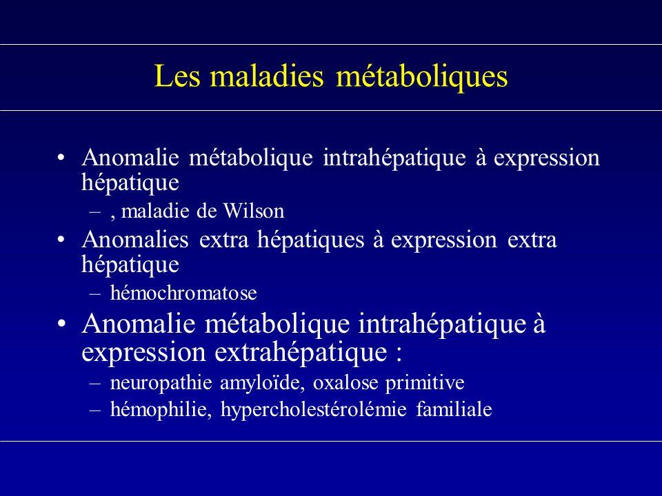 Les maladies métaboliques