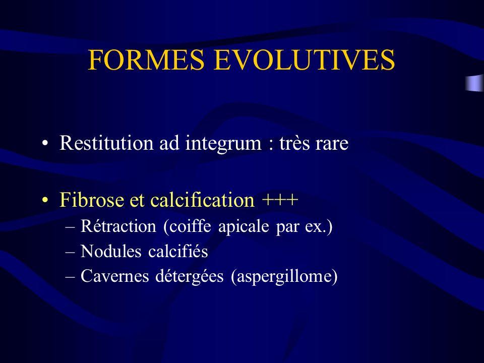 FORMES EVOLUTIVES Restitution ad integrum : très rare