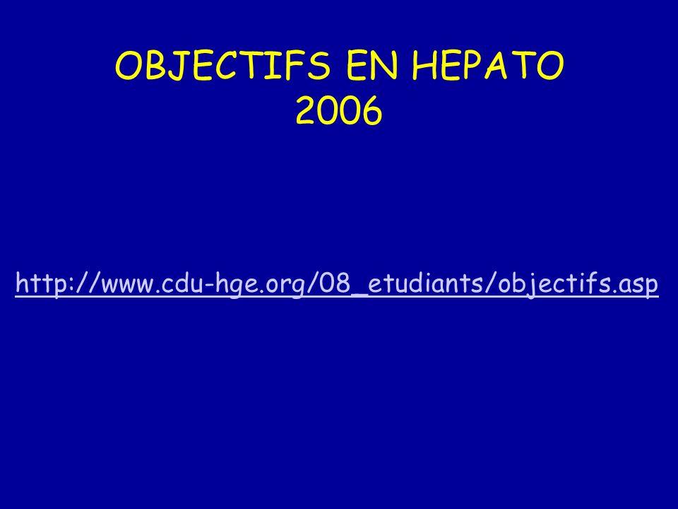 OBJECTIFS EN HEPATO 2006 http://www.cdu-hge.org/08_etudiants/objectifs.asp
