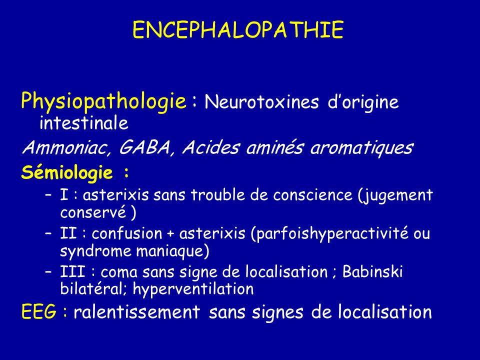 Physiopathologie : Neurotoxines d'origine intestinale