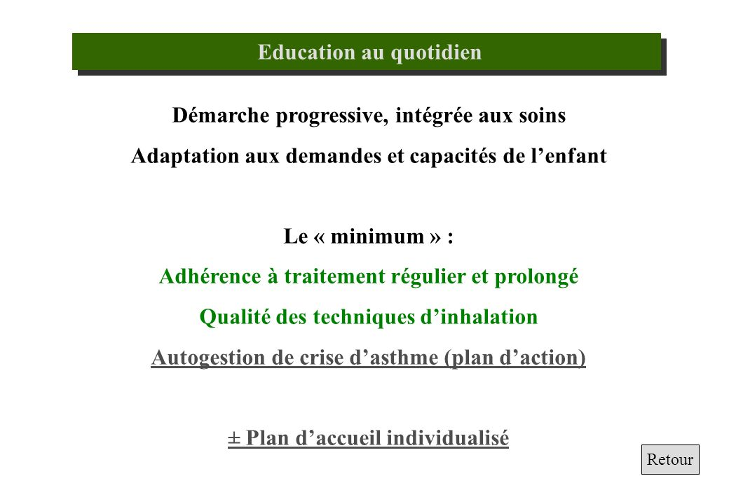 Education au quotidien