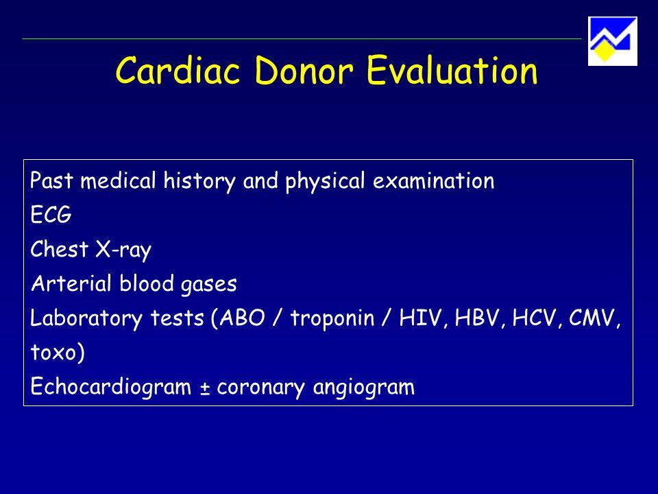Cardiac Donor Evaluation