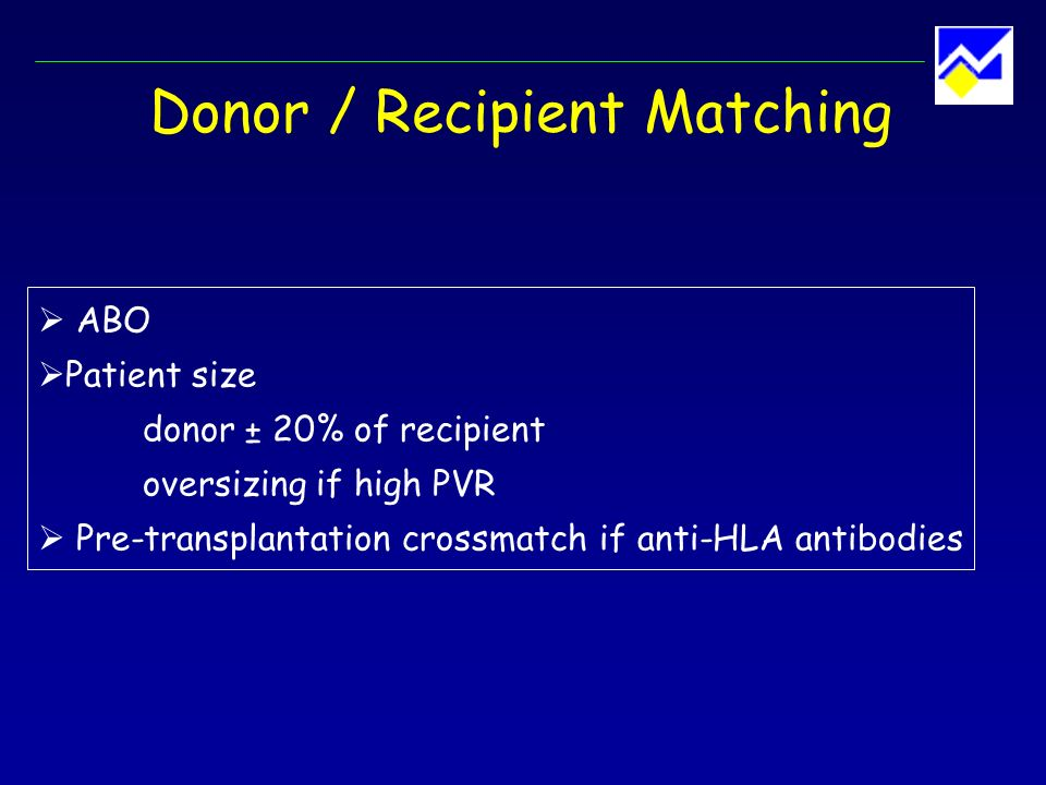 Donor / Recipient Matching